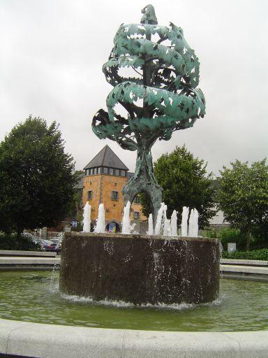 Fontaine dans la ville de Carlow.