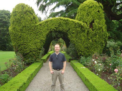 Carlow - Séb dans les jardins d'Altamont.