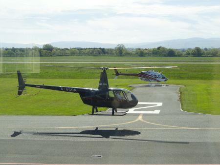 Helicopters in National Flight Centre at Weston Airport